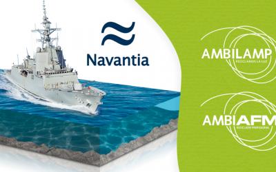 AMBILAMP firma un acuerdo con NAVANTIA para gestionar sus RAEE
