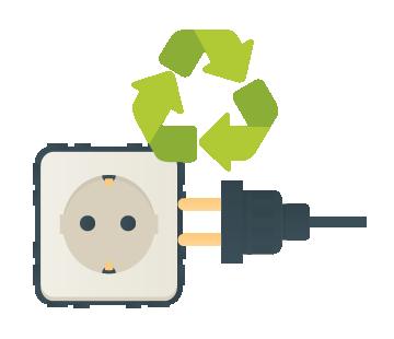 reciclar material eléctrico