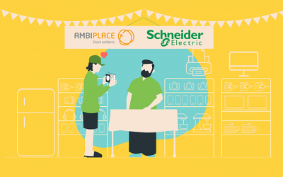 Schneider Electric dona 24.000 kilogramos de producto a través de AMBIPLACE en favor de diversas ONG y centros educativos